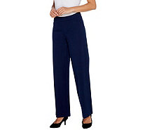 Isaac Mizrahi Live! Regular 24/7 Stretch Wide Leg Pants - A300933