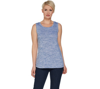 H by Halston Knit Sleeveless Top with Knit Side Panels - A301933
