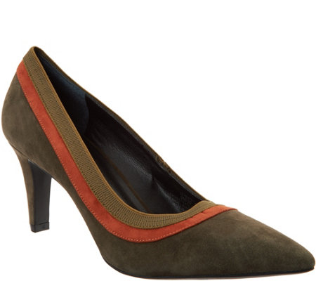 """As Is"" Lori Goldstein Collection Pumps with Contrast Trim"