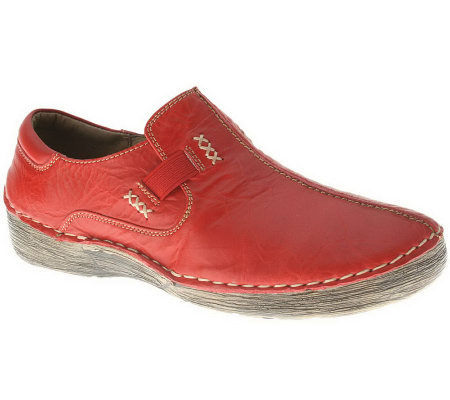 Spring Step Coed Leather Slip-ons