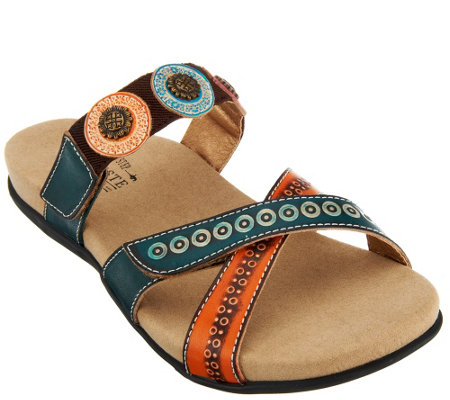 Spring Step L'Artiste Leather Slide Sandals - Glendora