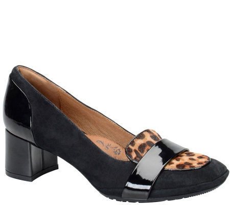 Sofft Mixed Leather Pumps - Verbina