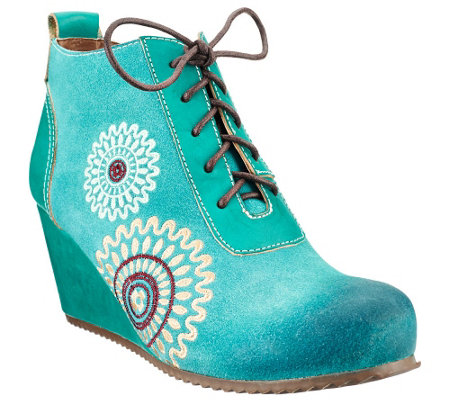 Spring Step L'Artiste Leather Booties - Westminster