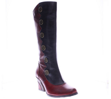 Spring Step Tall Leather Boots - Hadrian
