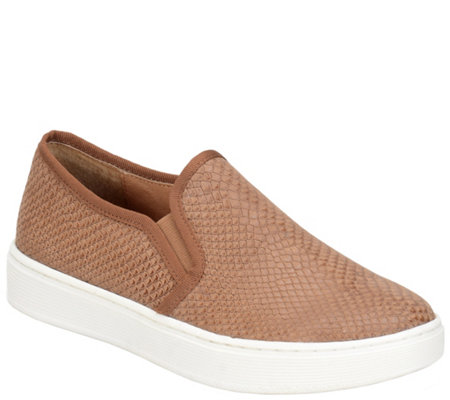 Sofft Nubuck Leather Slip-on Sneakers - Somers