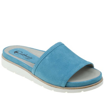 Earthies Leather Slide Sandals - Crete - A339333