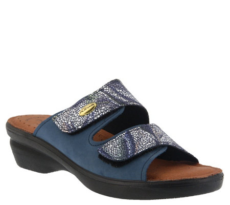 Flexus by Spring Step Leather Slide Sandals - Kina