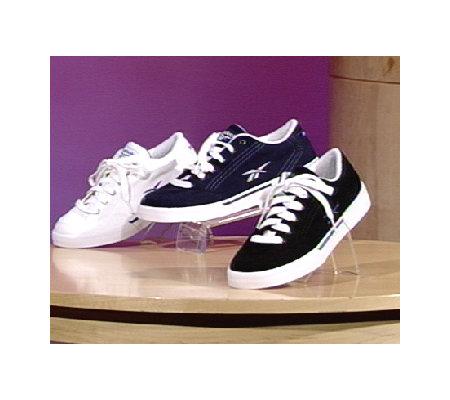 reebok canvas tennis shoes qvc