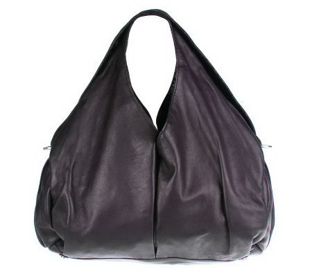 Sondra Roberts Nappa Leather Shoulder Bag with Hidden Pockets