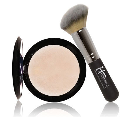 IT Cosmetics Hello Light Illuminating Powder with Radiance Brush