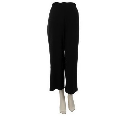 """As Is"" Susan Graver Liquid Knit Pull-on Crop Pants"