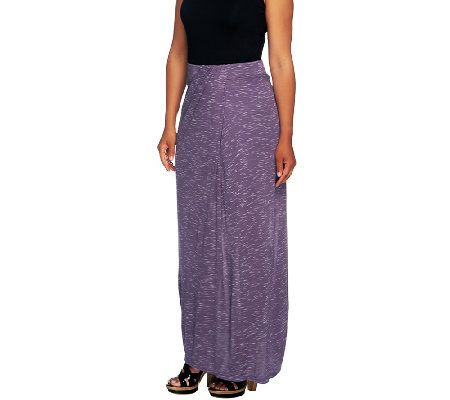 Lisa Rinna Collection Regular Long Skirt w/ Draped Front