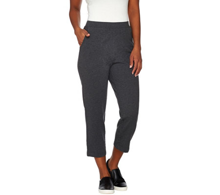 Denim & Co. Active Regular French Terry Crop Pants
