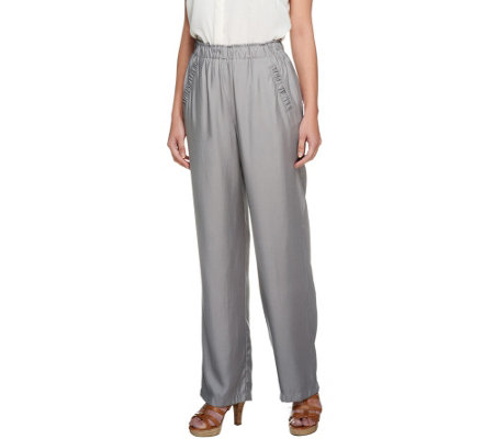 George Simonton Wide Leg Woven Trouser with Pocket Detail