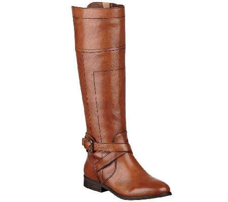 Marc Fisher Leather Riding Boots - Anlosa
