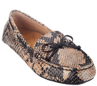 Vionic w/ Orthaheel Leather Moccasins - Anchor - A257434