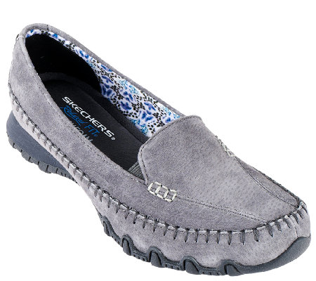 Skechers Suede Relaxed Fit Slip-on Moccasins - Pedestrian