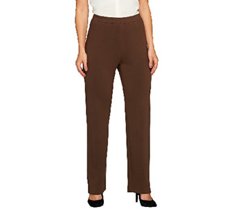 Susan Graver Brushed Back Knit Pull-On Pants - Regular - A258634