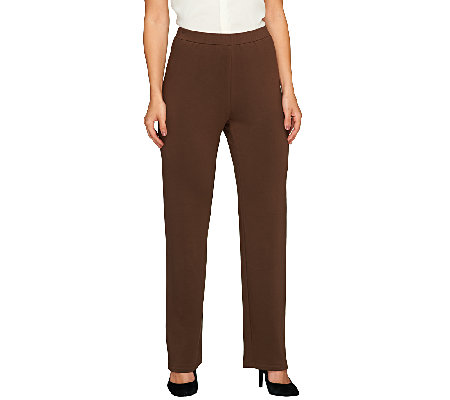 Susan Graver Brushed Back Knit Pull-On Pants - Regular