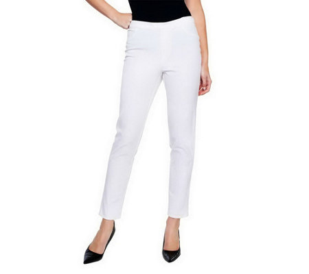 """As Is"" Isaac Mizrahi Live! Petite 24/7 Stretch Pull-On Ankle Pants"