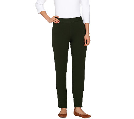 Women With Control Regular Ankle Pants with Button Detail