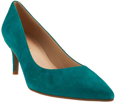 Marc Fisher Leather Pointed-toe Mid-heel Pumps - Milee