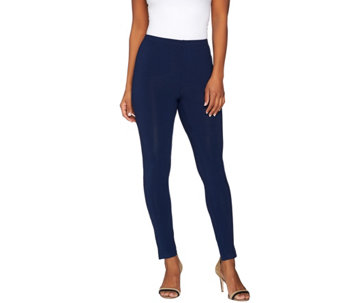 Susan Graver Weekend Cotton Modal Leggings with Side Slits - A275234