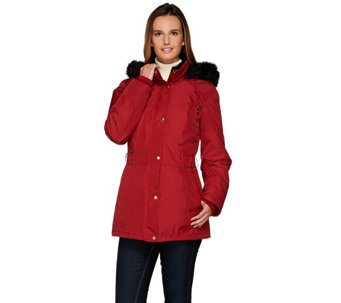 """As Is"" Susan Graver Convertible 4 in 1 Jacket w/ Velvet Vest - A279334"