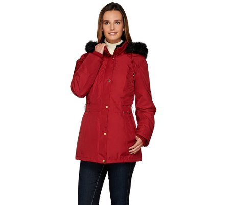 """As Is"" Susan Graver Convertible 4 in 1 Jacket w/ Velvet Vest"
