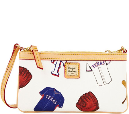 Dooney & Bourke MLB Rangers Large Slim Wristlet