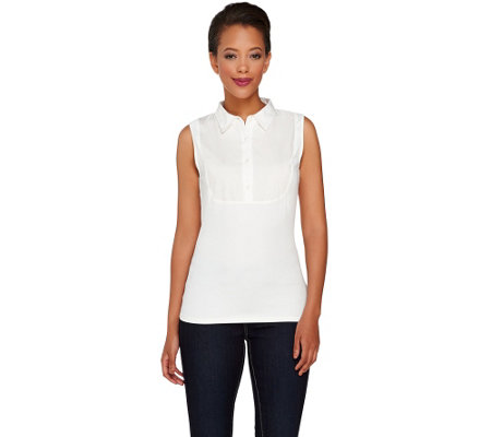 """As Is"" Kathleen Kirkwood Classic Collar Camisole"