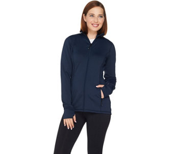cee bee CHERYL BURKE Zip Front Mock Neck Jacket - A282634