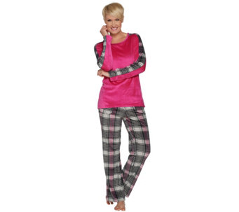 Cuddl Duds Ultra Plush Velvet Fleece Novelty Print Pajama Set - A283334