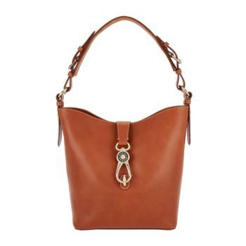 Dooney & Bourke Logo Lock Toscana Leather Shoulder Bag- Lily
