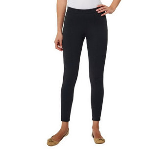 """As Is"" Isaac Mizrahi Live! Icon Marilyn Stretch Ponte Knit Leggings - A287434"