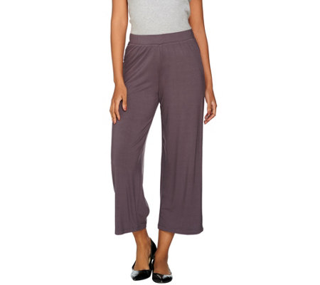LOGO by Lori Goldstein Pull-On Wide Leg Knit Pants