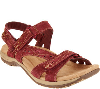 Earth Origins Suede Sport Sandals - Sophie - A289334