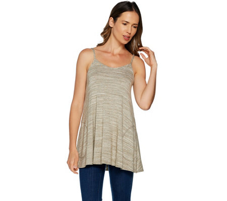 LOGO by Lori Goldstein Slub Jersey Knit Camisole with Pockets