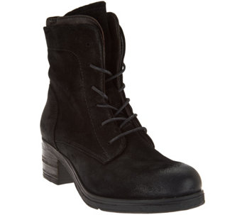 """As Is"" Miz Mooz Leather Lace-up Boots - Sloanne - A290834"