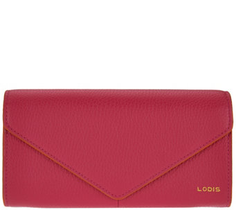 """As Is"" LODIS Italian Leather Organizer Wallet with RFID Protection - A291734"