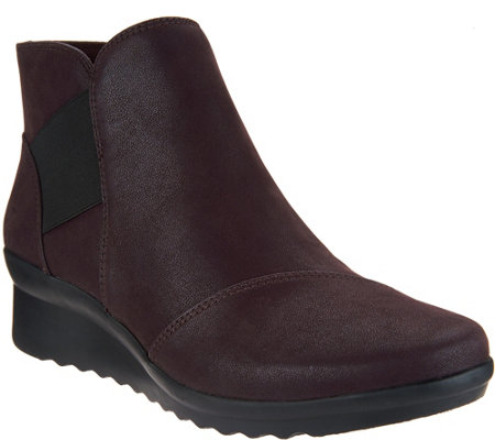 CLOUDSTEPPERS by Clarks Wedge Ankle Boots - Caddell Tropic
