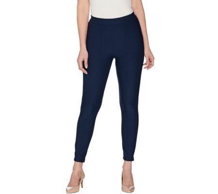 Joan Rivers Regular Ankle Length Leggings with Seam Detail