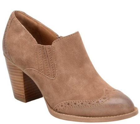 Sofft Leather Block Heel Booties - Weston