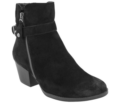 Earth Water-Resistant Leather Ankle Boots - Royal