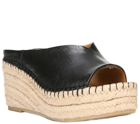Franco Sarto Wedge Espadrille Slide Sandals - Pine