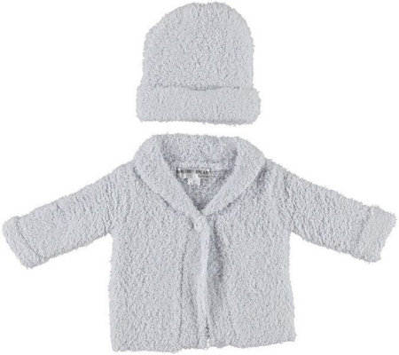 Barefoot Dreams CozyChic Infant Cardigan and Hat