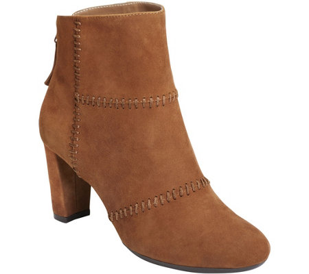 Aerosoles Suede Ankle Booties - First Ave