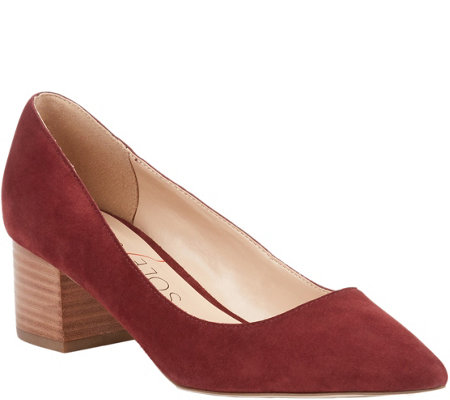 Sole Society Block Heel Pumps - Andorra
