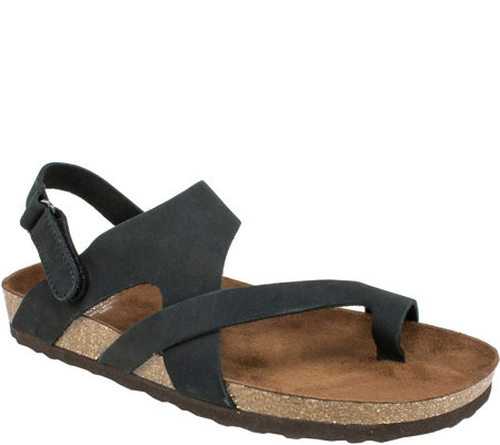 White Mountain Suede Leather Sandals - Huntsville