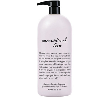 philosophy unconditional love super-size bath & shower gel, 32 oz.